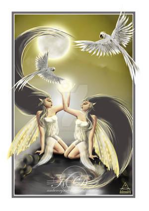 Gemini Fae by AmberCrystalElf