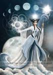 Moon Goddess by AmberCrystalElf