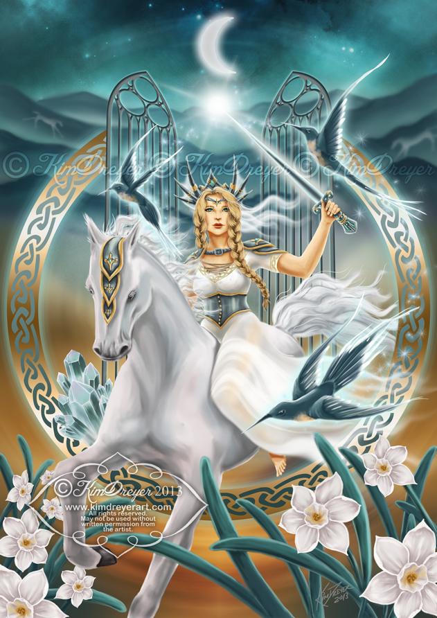 The Goddess Rhiannon by AmberCrystalElf