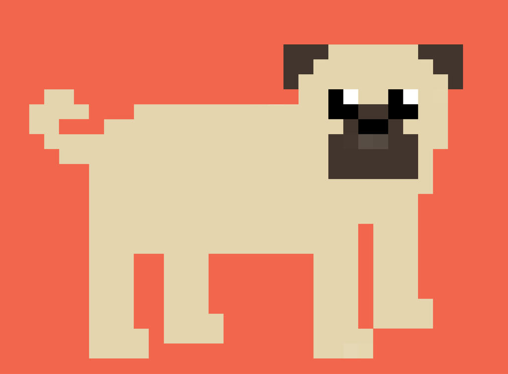 pixel pug pixel pug the first by shinypug on deviantart 3851