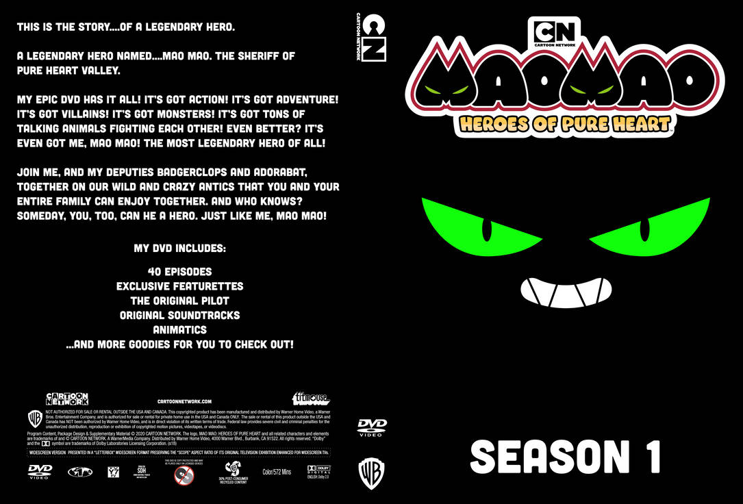 Mao Mao: Season 1 DVD Cover (Mockup)