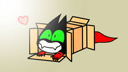 Mao Mao sliding into a box
