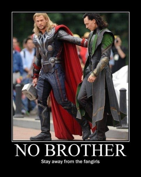 'No Brother' Loki and Thor by ThreeMoonFairy