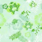 Floral Botanical 4 Green