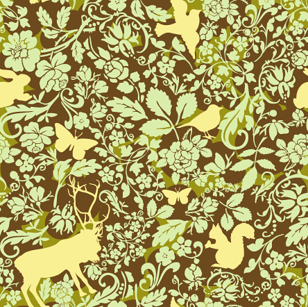 Woodland creatures pattern 1