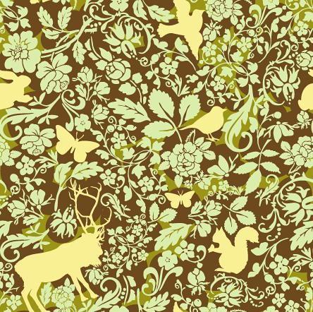 Woodland creatures pattern 1