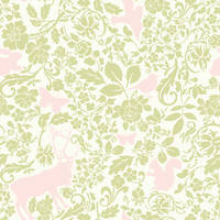 Woodland creatures pattern 2 by chamelledesigns