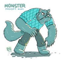 Monster Monday 003 -Buffed Eye patched Werewolf by rickruizdana