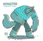 Monster Monday 003 -Buffed Eye patched Werewolf
