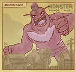 Monster Monday 004- Giant Evil Monster
