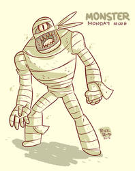 Monster Monday 006- The Cyclops mummy by rickruizdana