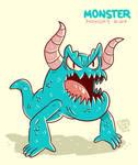 Monster Monday 007- No legs, two horns monster