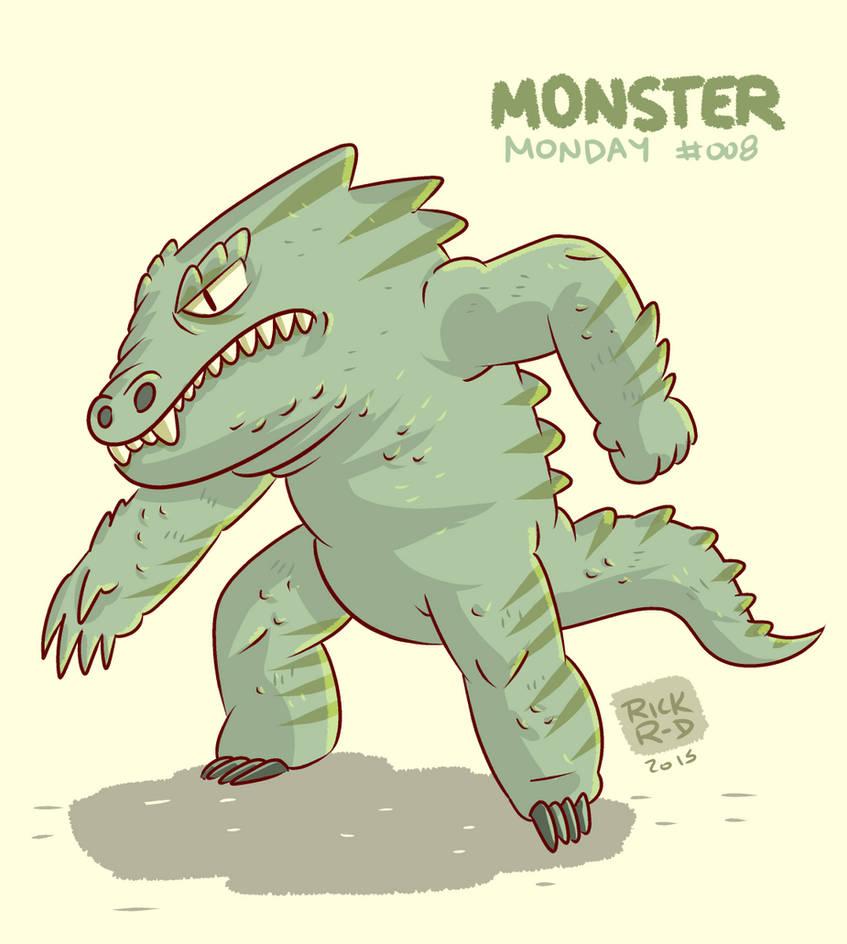 Monster Monday 008- Big fat lizard monster by rickruizdana