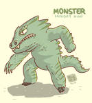 Monster Monday 008- Big fat lizard monster