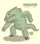 Monster Monday 008- Big fat lizard monster