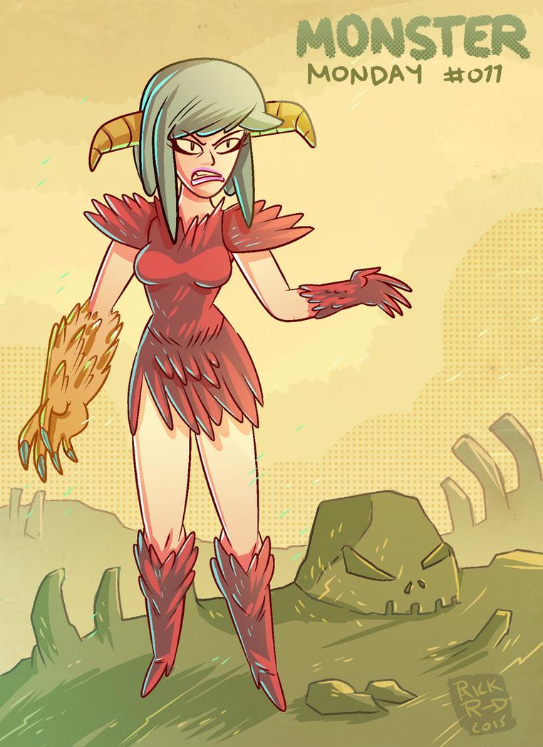 Monster Monday 011- She-devil woman by rickruizdana