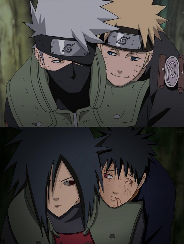 Obito Uchiha, Madara Uchiha, Kakashi, Naruto by dudumgo on ... Uchiha Madara And Obito