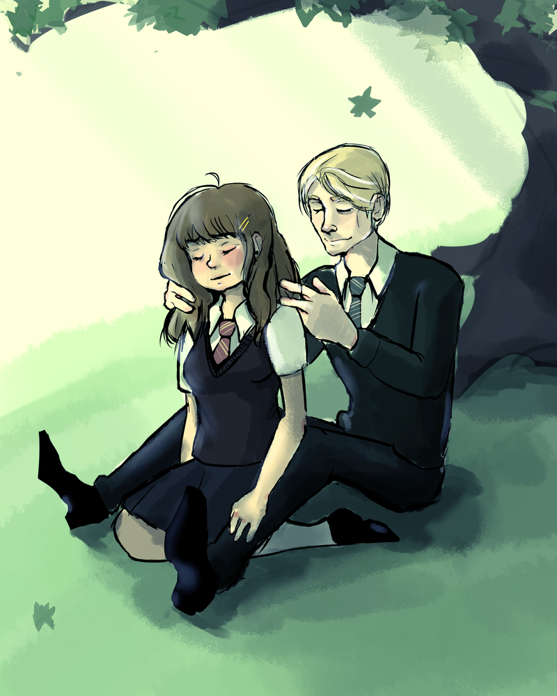 Draco malfoy and hermione granger anime