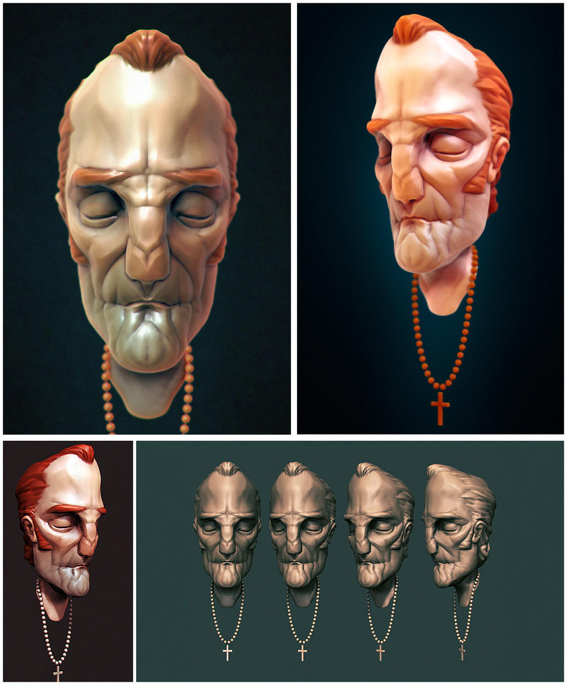 Priest digital sculpture by zigrapher