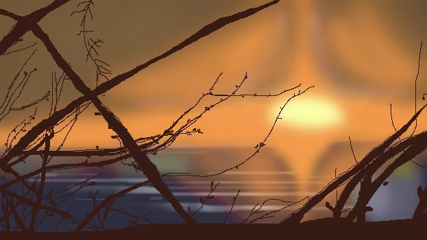 Sunset Pixelledbylkdesigned by lkdesigned