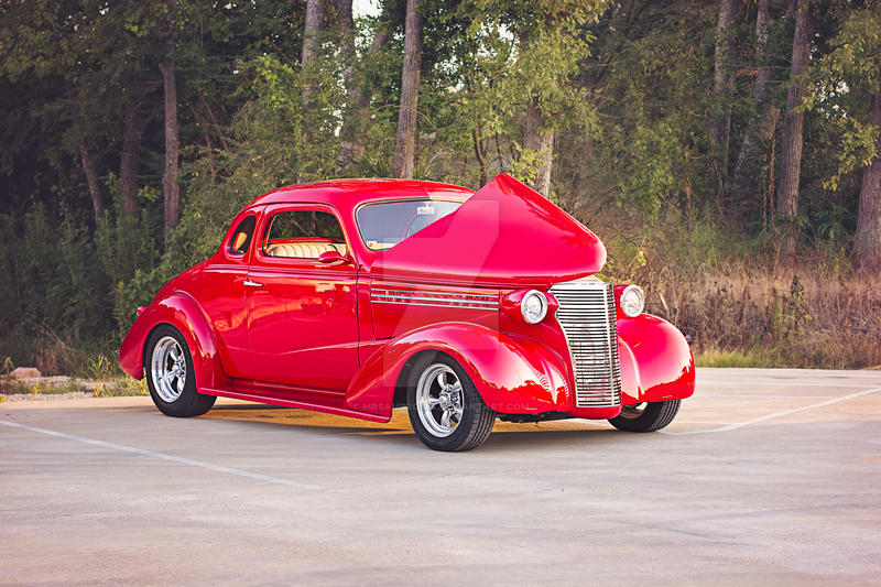Red Chevy Coupe by MrsAmbrosia