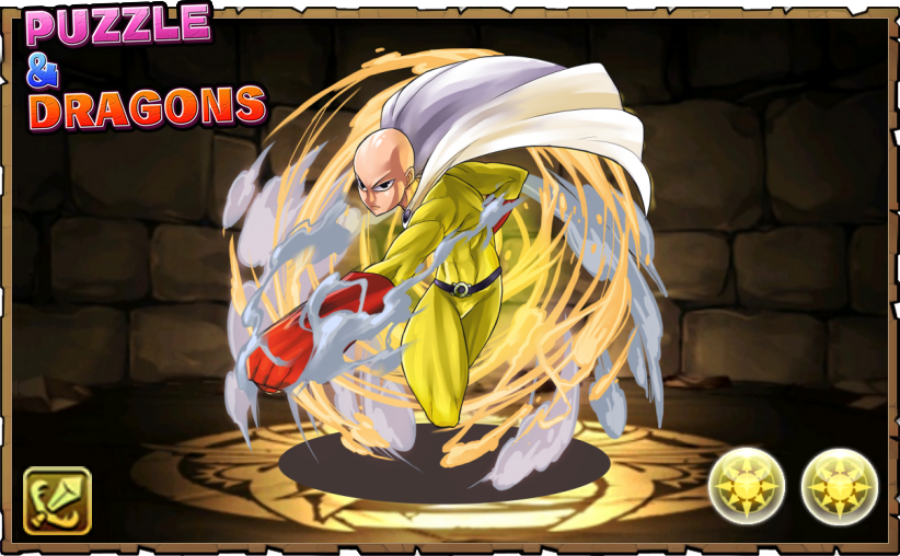 onepunch-man X puzzle and dragons by turtlechan