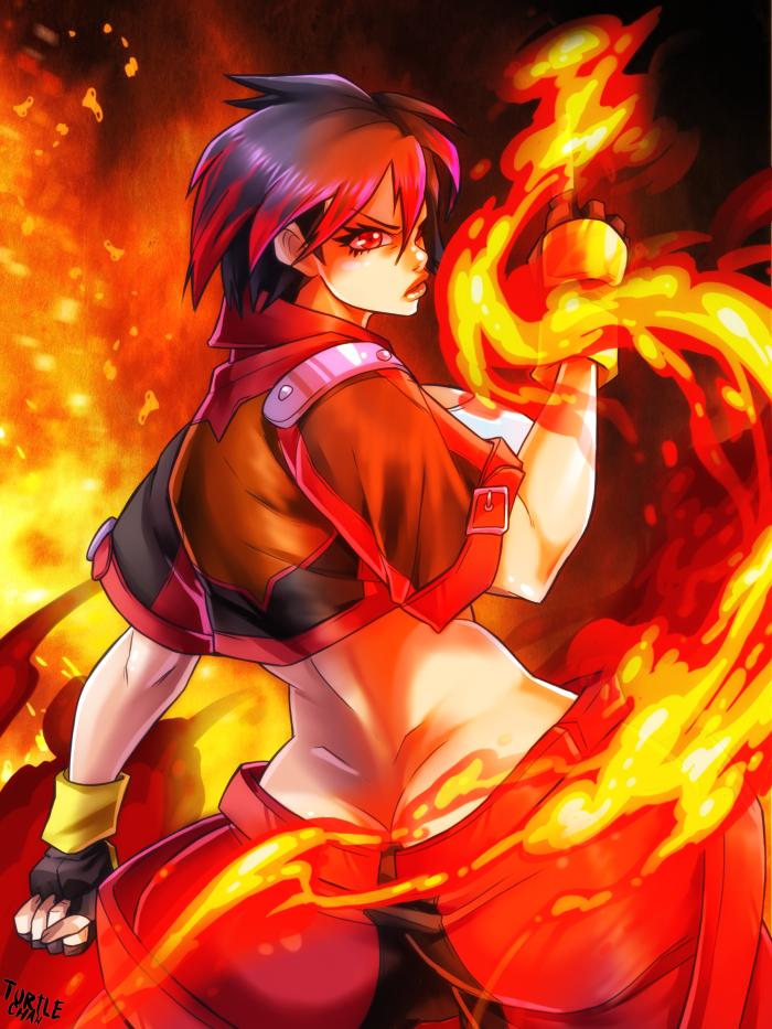 Blaze on fire by turtlechan