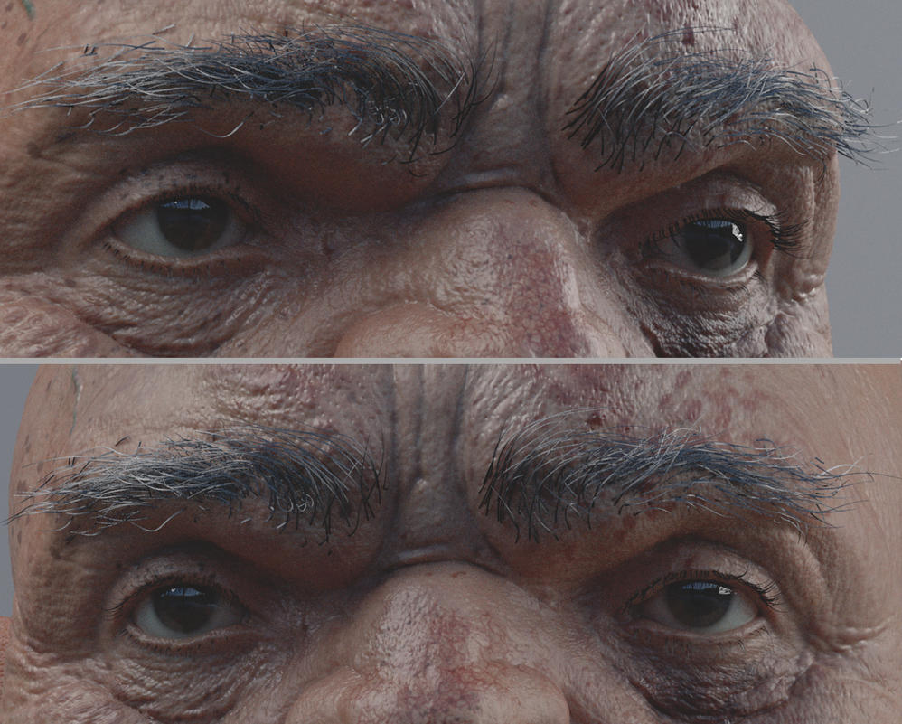 Ogre Eye brow Progress by mmodarres
