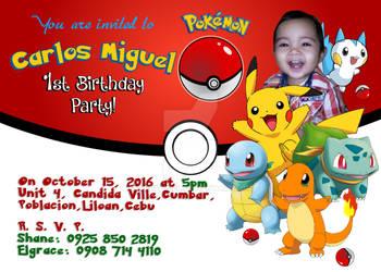 Carlos Miguel 1st Birthday Invite