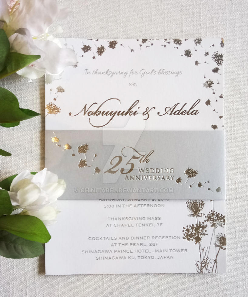 Silver Wedding invitation (Dandelion Invite) by ChinitaBeL on DeviantArt
