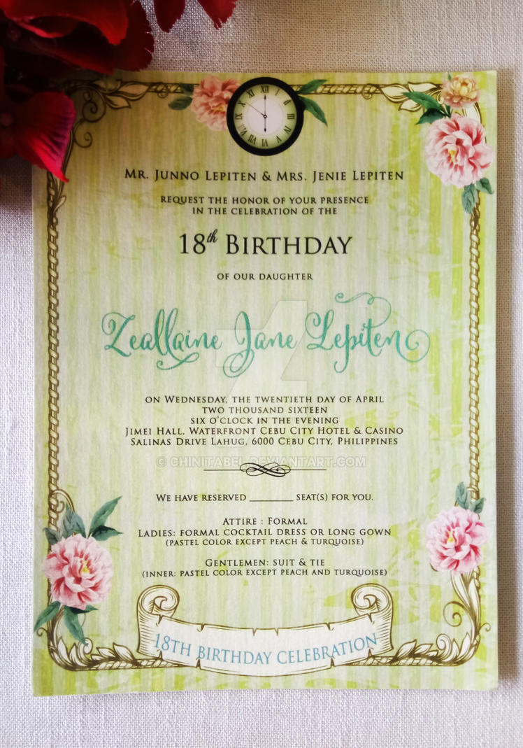 Zeallaine jane lepiten debut invite by chinitabel on deviantart zeallaine jane lepiten debut invite by chinitabel stopboris Image collections