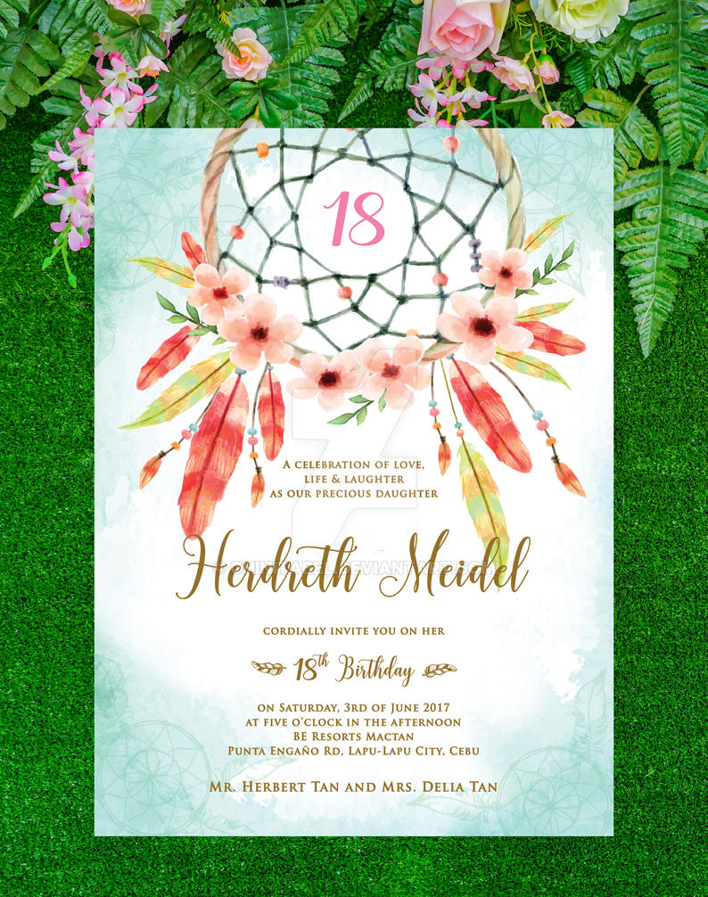 Herdreth 18th Birthday invite by ChinitaBeL on DeviantArt