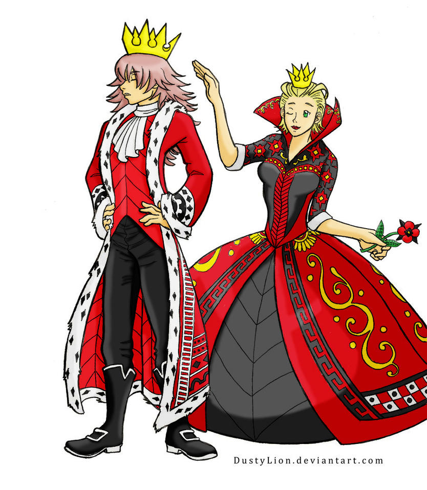 King and Queen of Hearts Color