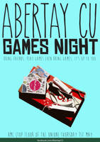 Games Night Flyer by Zzebodiah