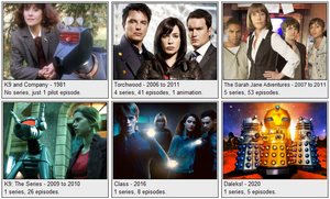 All Doctor Who Spinoff Shows