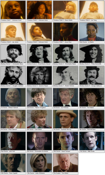 All Main Incarnations of the Doctor