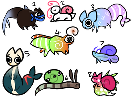 Fishies and Snails - Adopts (OPEN) (4/8) by cloudny4n