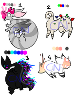 What the Eggs - Adoptables (OPEN) (2/4) (lowered) by cloudny4n