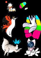 Funky Lil Birds - OPEN OTAS by cloudny4n