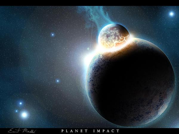 Planet Impact by PhotoshopAddict89