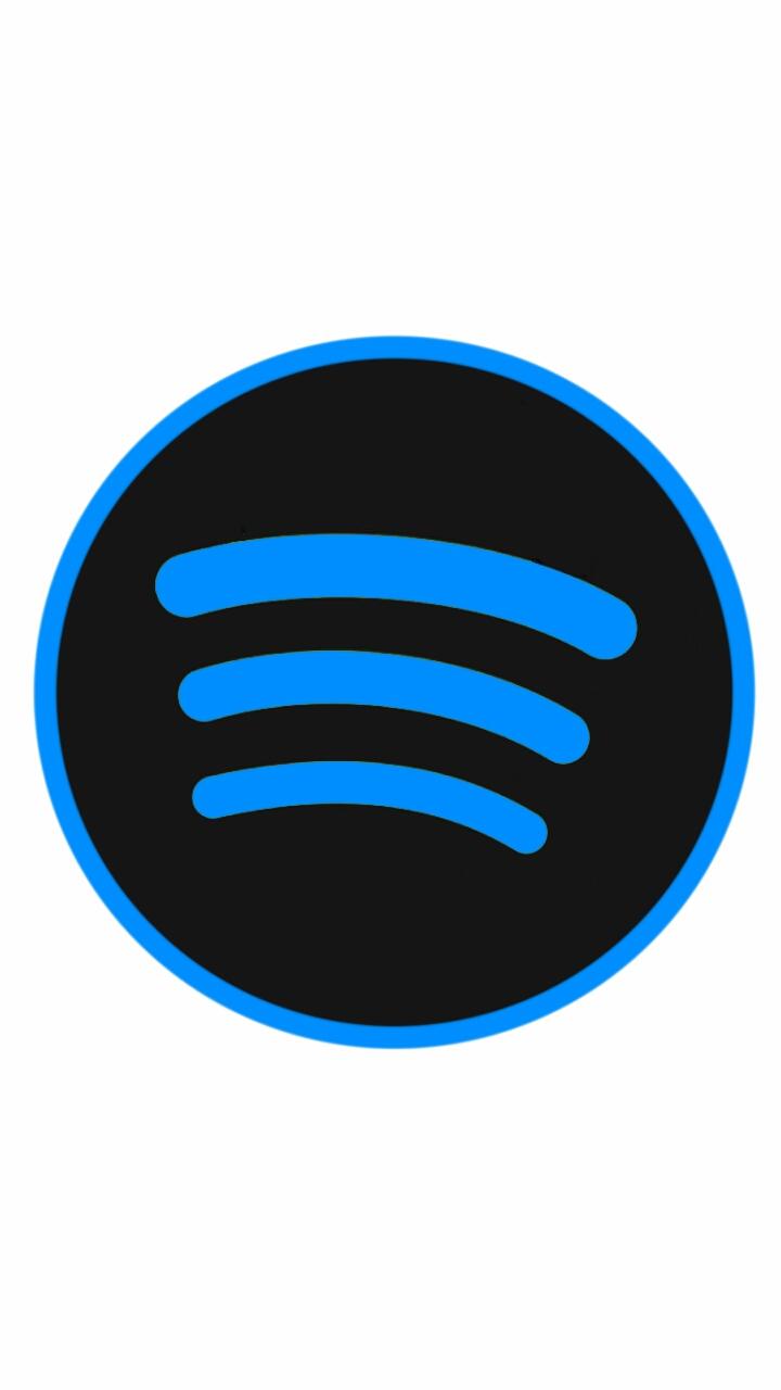 spotify logo blue by dfroomer413 on deviantart