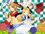 Link and Zelda in Wonderland