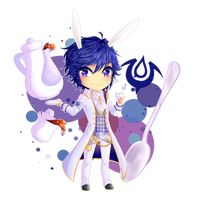 FE Awakening: Wonderland - Chrom-white rabbit by OwlLisa