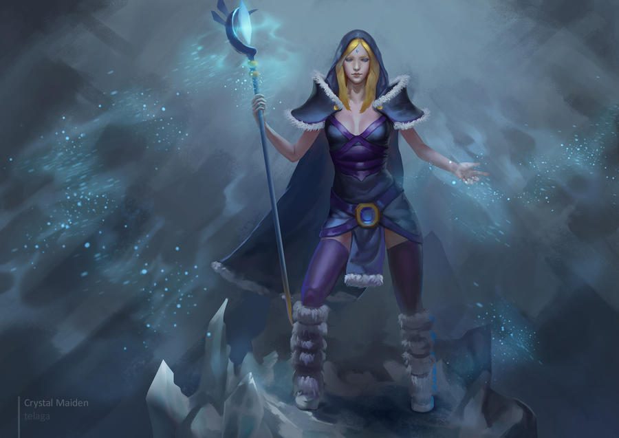 dota 2 crystal maiden fanart by telaga on deviantart
