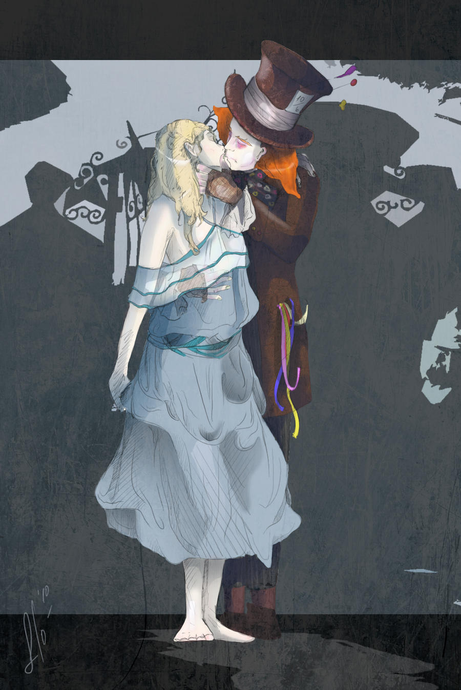 Dark alice in wonderland art mad hatter