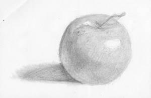 Shading Practice: An apple