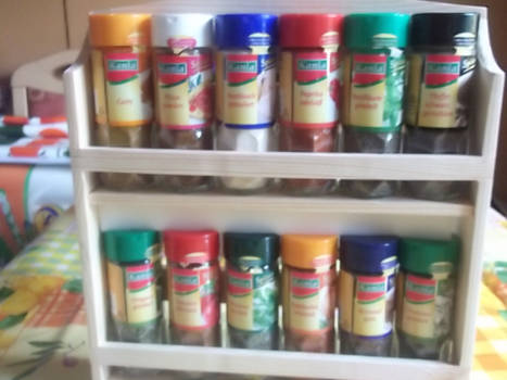 Our spice rack