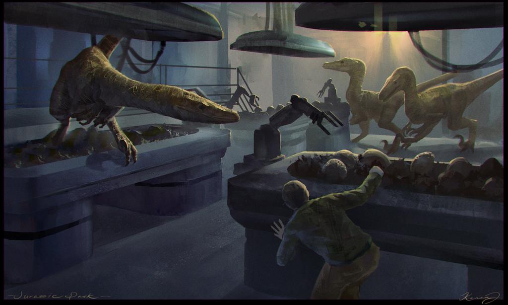 Visualize the Novels  Jurassic_park_by_kenanj-d8anl33