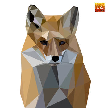 Low Poly Fox Illustration by shahriyer