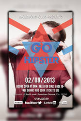 Go Hipster Party Flyer by shahriyer